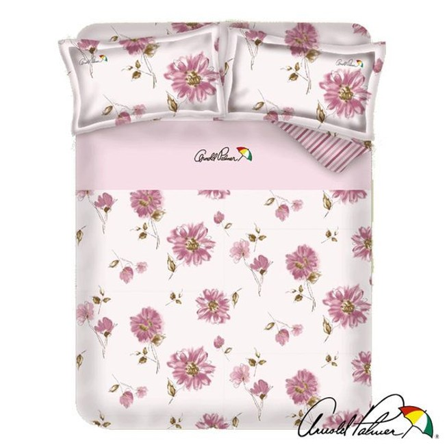 Arnold Palmer雨傘牌 愛戀紅妍-精梳棉床包雙人加大四件組