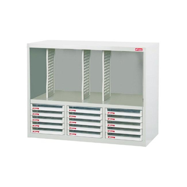 落地三排型資料側櫃(15個低抽)