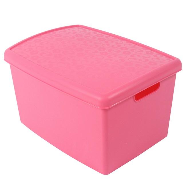 魔法17整理箱 附蓋-1入(藍色/粉紅混款隨機出貨)