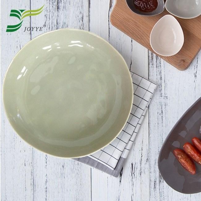 【JOYYE陶瓷餐具】自然初語手捏深盤-灰色