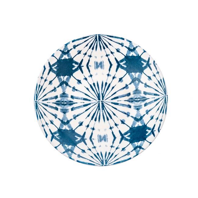 渲染藍韻湯盤21cm 蒲公英