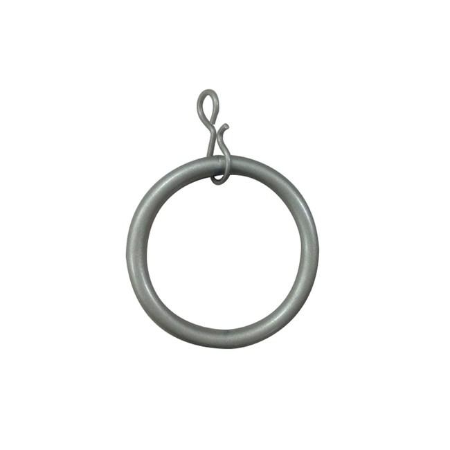 多樣屋金屬伸縮窗簾桿-金屬環10入 銀色