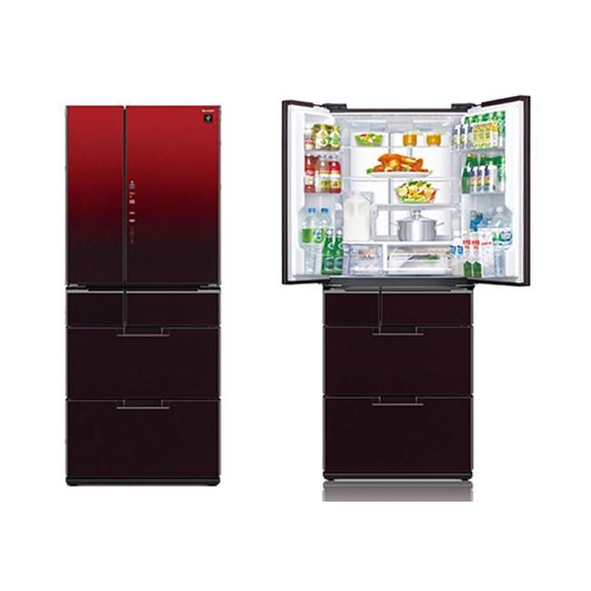 SHARP 夏普 601公升變頻六門對開冰箱SJ-GF60BT-R