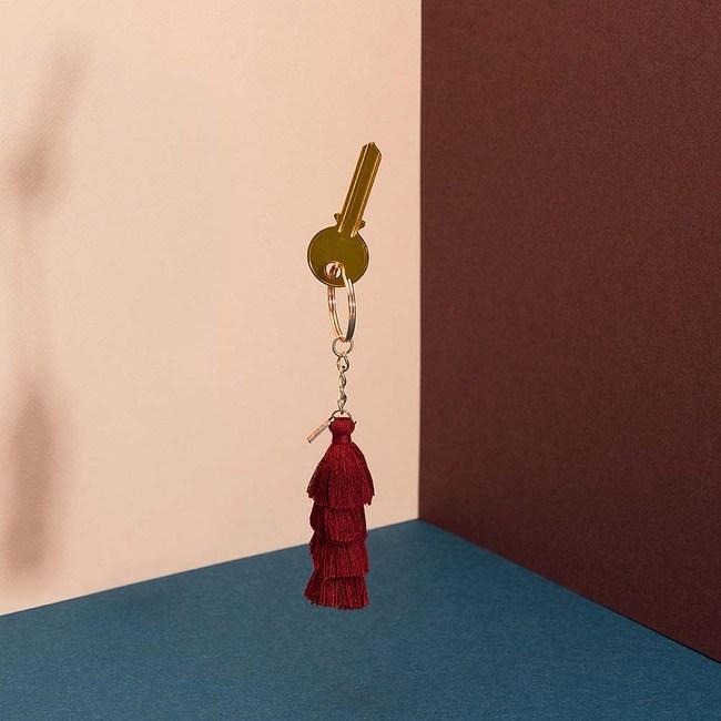 DOIY|流蘇-鑰匙圈(紅)