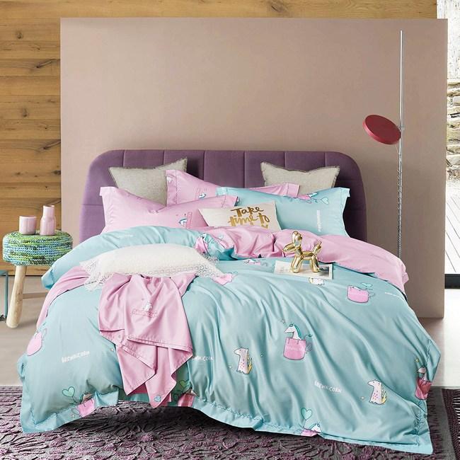 天絲 TENCEL 採用3M吸濕排汗專利 雙人鋪棉兩用被套床包組-類似愛