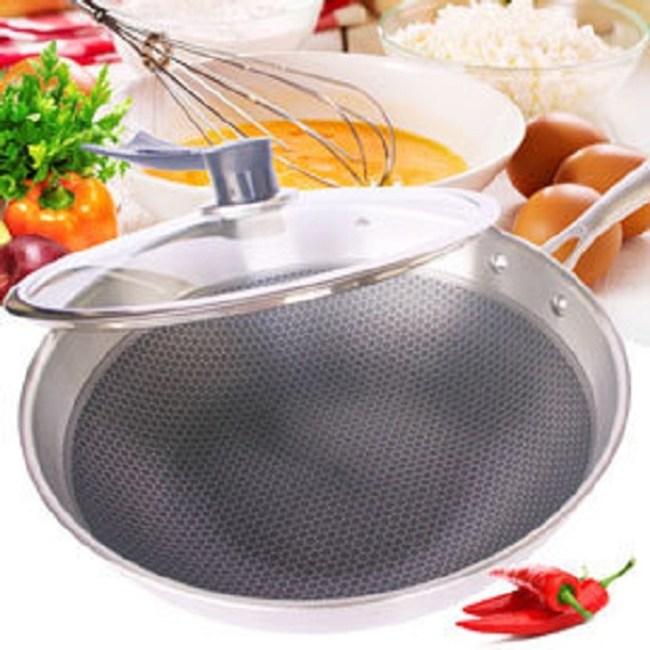 304不鏽鋼精鋼鍋蜂巢鍋不沾鍋