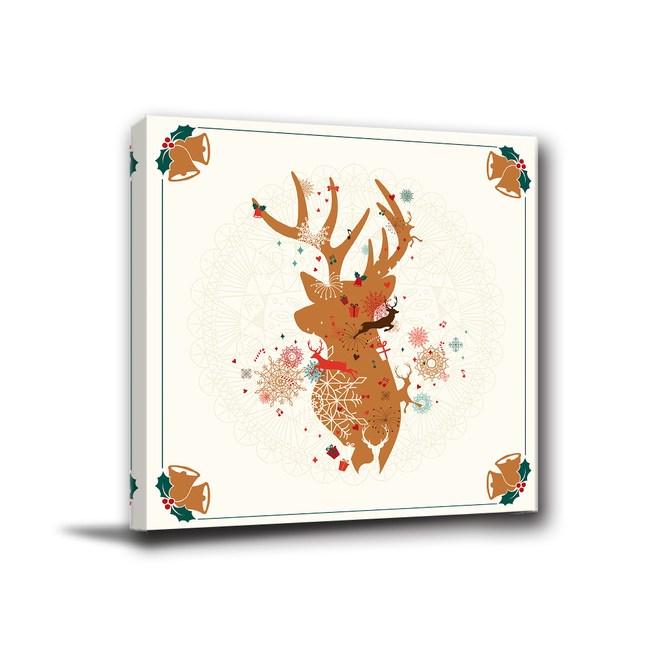 24mama掛畫-單聯式 客製無框畫 聖誕掛飾 40x40cm