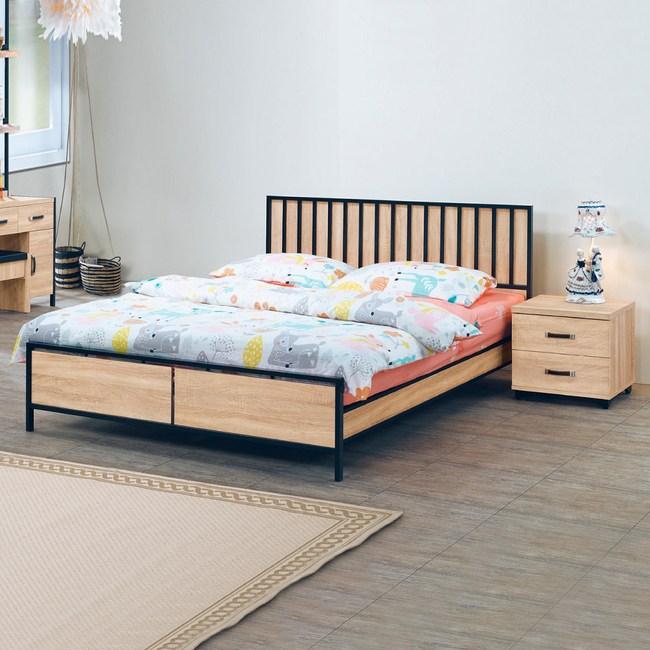 【YFS】克爾橡木6尺床架(買就送床頭櫃)
