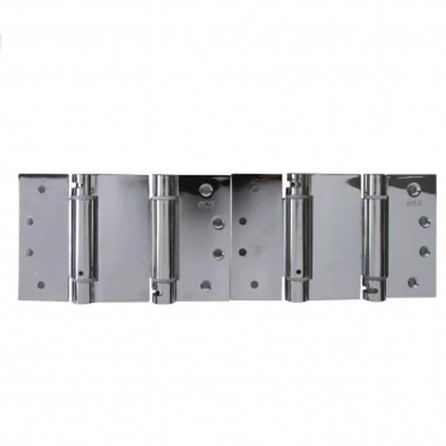 鐵鍍亮鉻雙開彈簧鉸鏈4X4X2.5