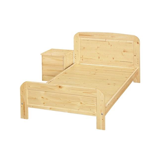 白松木3.5尺實木床架