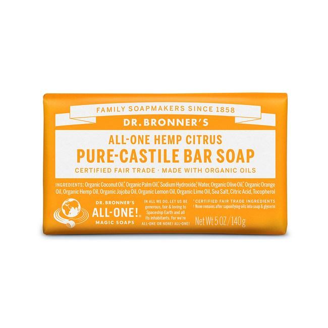DR.BRONNER'S【布朗博士】有機柑橘亮白潔顏皂 5oz/140g
