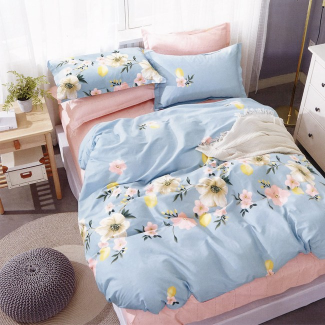 BUTTERFLY-純棉三件式被套床包組-如花盛開(單人加大)