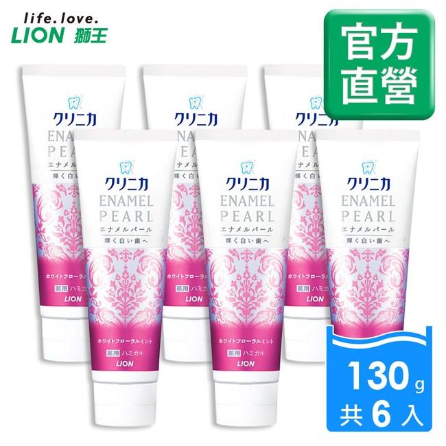 日本獅王LION 固齒佳酵素亮白牙膏-百花薄荷130gx6入