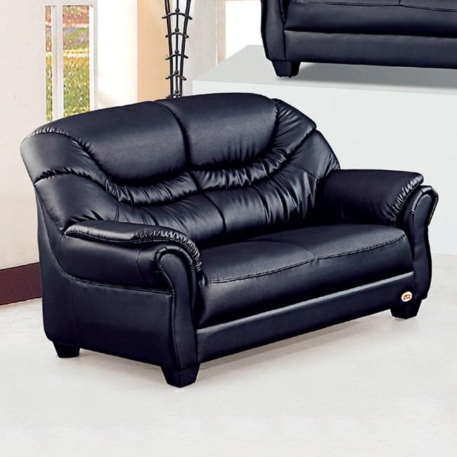 【YFS】亞特蘭黑皮雙人沙發-141x84x93cm