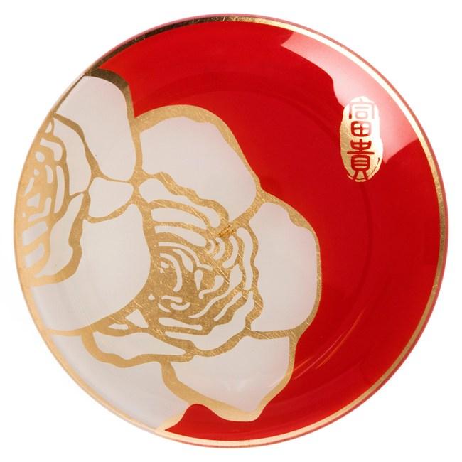 迎春盛宴系列 玻璃圓盤 15cm 紅色款