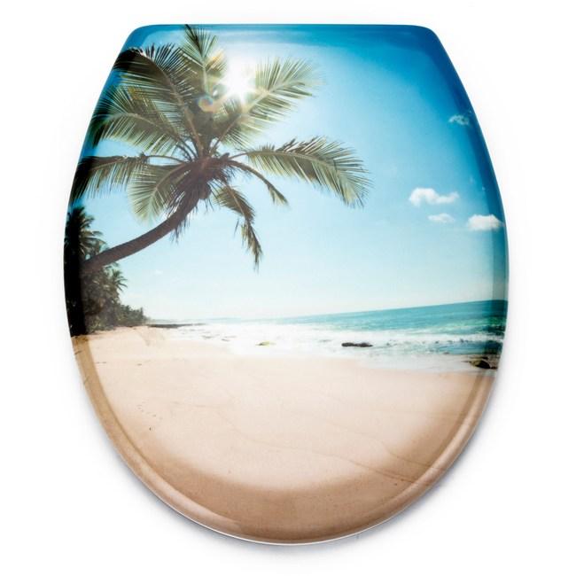 艷陽海灘緩降造型馬桶蓋