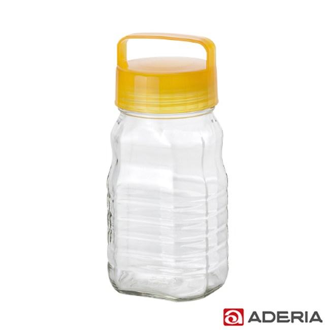 【ADERIA】日本進口長型醃漬玻璃罐1.2L(黃)