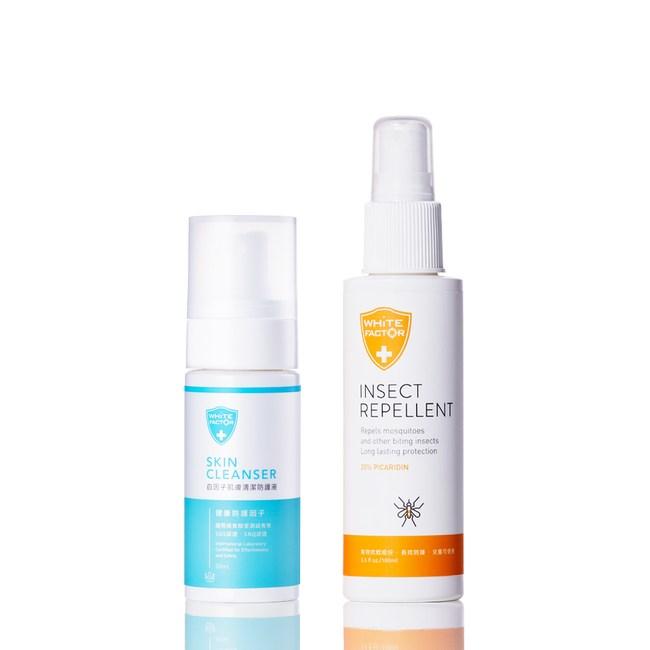 白因子防蚊液(派卡瑞丁)100ml+肌膚清潔防護液50ml