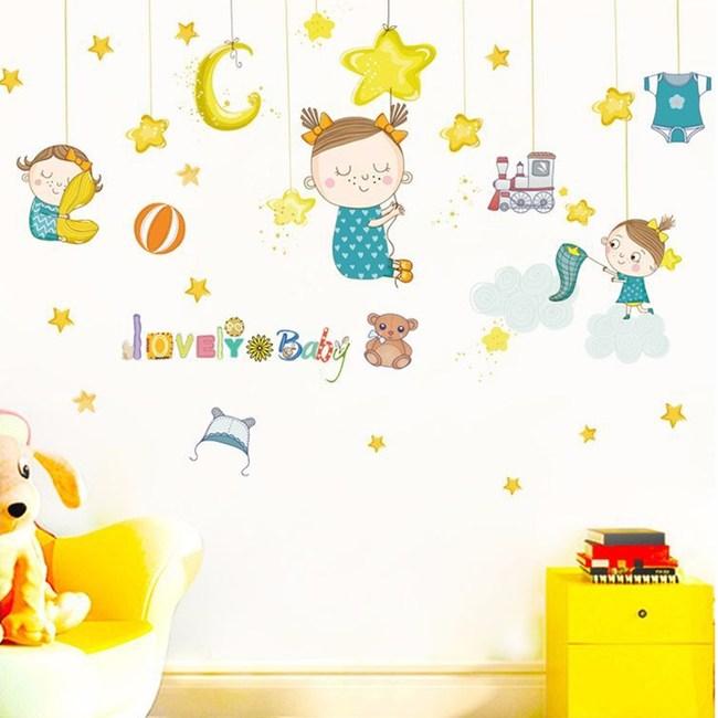 【Loviisa Baby吊飾】無痕壁貼 壁紙