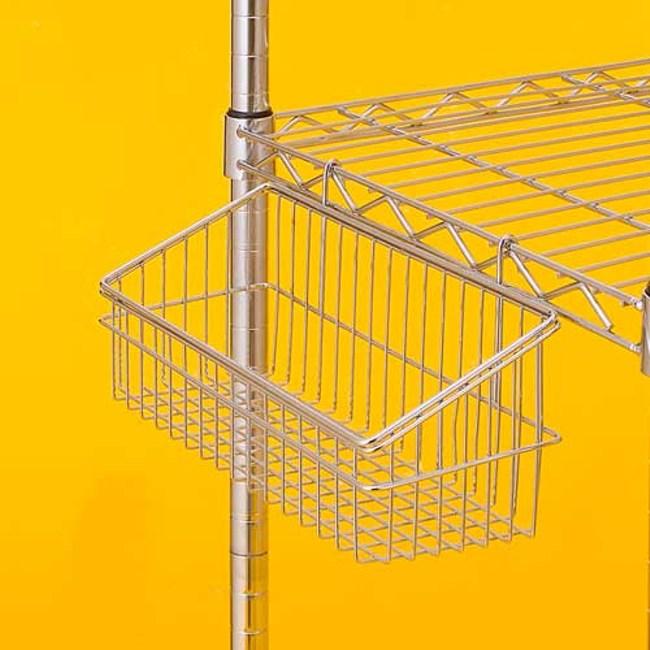 特力屋 鍍鉻方型掛籃 小型款 13.5x30x14.5cm