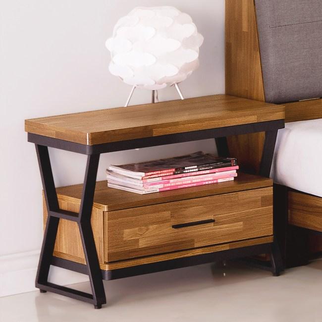 Homelike 凱德工業風床頭櫃-免組裝