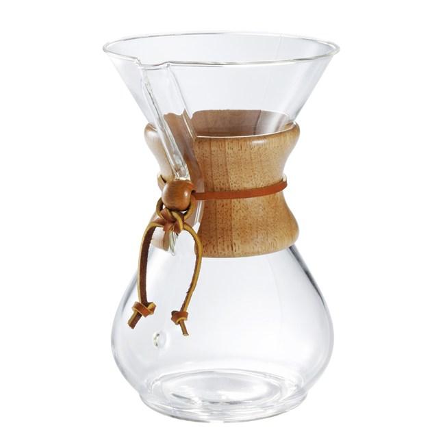 美國Chemex 經典手沖咖啡濾壺(木把.六人份)