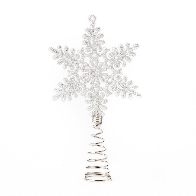 雪花樹頂星-銀
