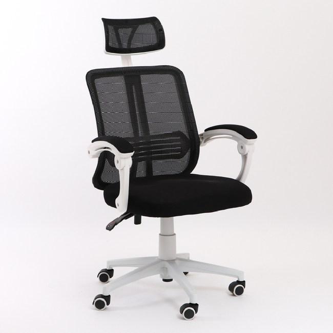 【IDEA】升降式頭枕機能型寬背護脊工學電腦椅/辦公椅