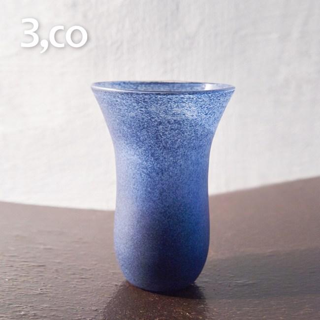 【3,co】手工彩色玻璃杯(大) - 藍