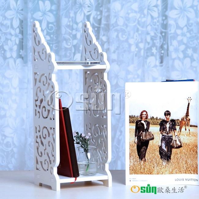 【Osun】DIY木塑板巴洛克桌上型層架(BLK1601)