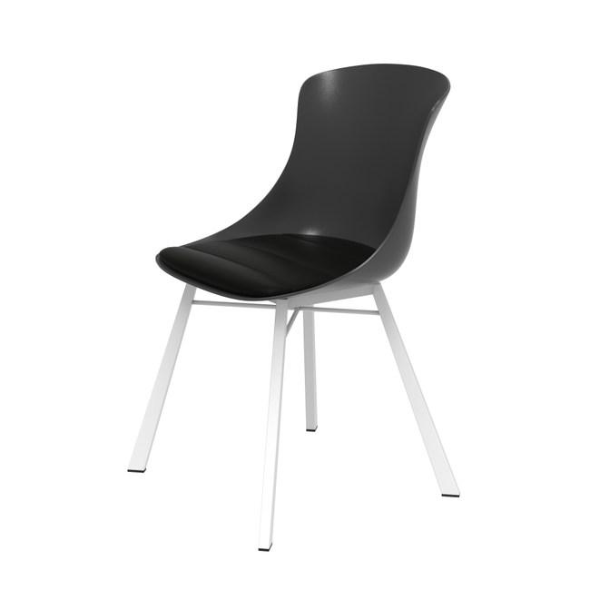 組 - 特力屋萊特 塑鋼椅 金屬一體成型腳架/黑椅背/黑座墊