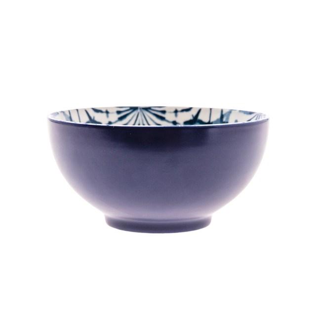 渲染藍韻湯碗15cm 蒲公英