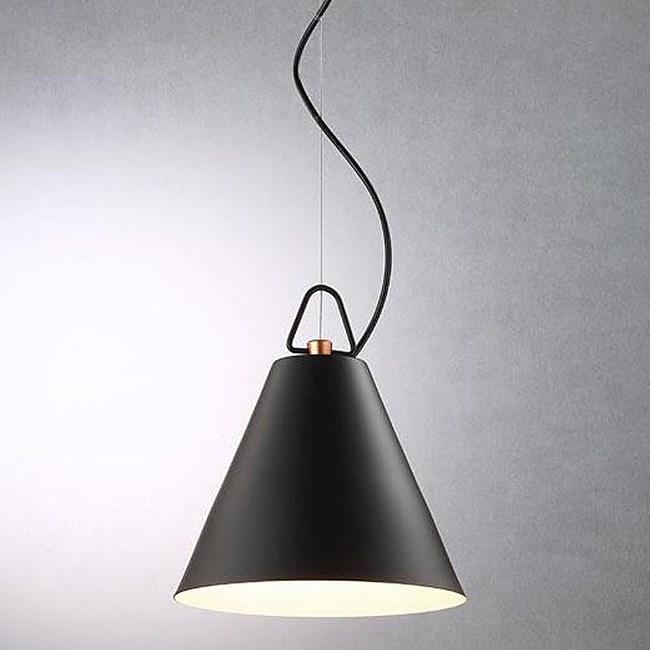 HONEY COMB 極簡風西尼斯金屬單吊燈 雙色款黑色-TA7487R