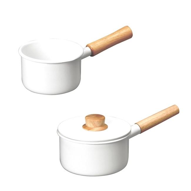 (組)琺瑯單柄牛奶鍋12cm+調理鍋16cm
