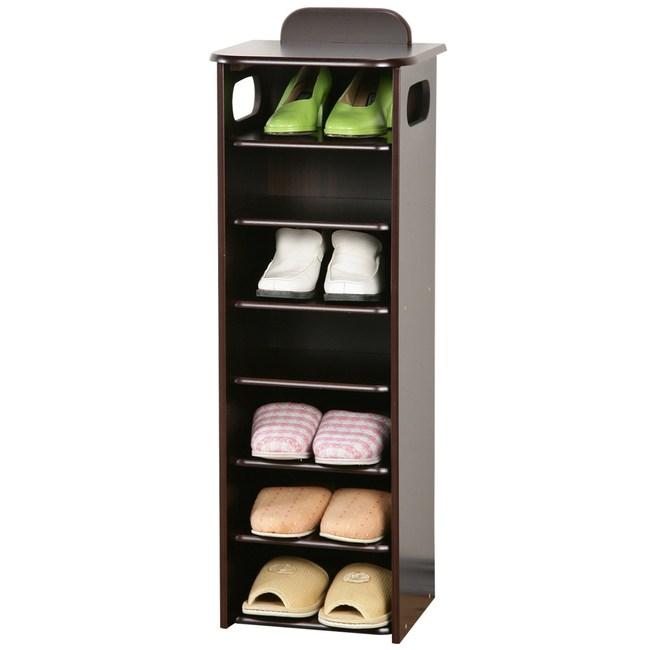 Homelike 新歐風七層置物鞋櫃(胡桃木色)
