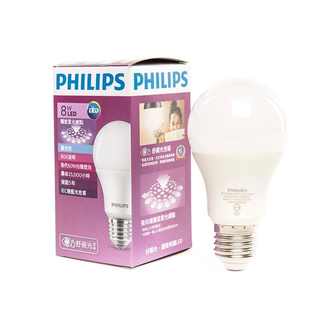 飛利浦 8W 七代 全廣角LED燈泡 白光 PHILIPS
