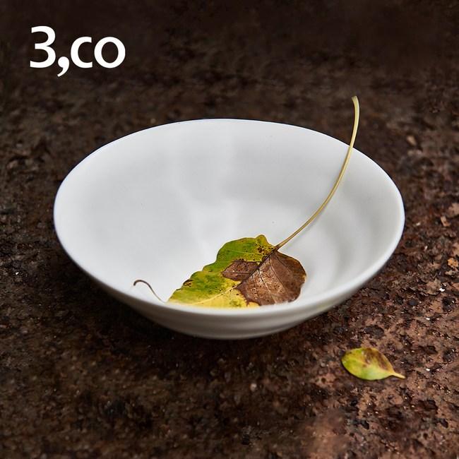 【3 co】水波系列中碗- 白(2號)