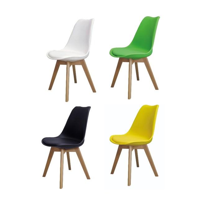 【MUNA 家居】迪克皮餐椅/休閒椅(單只)黃色