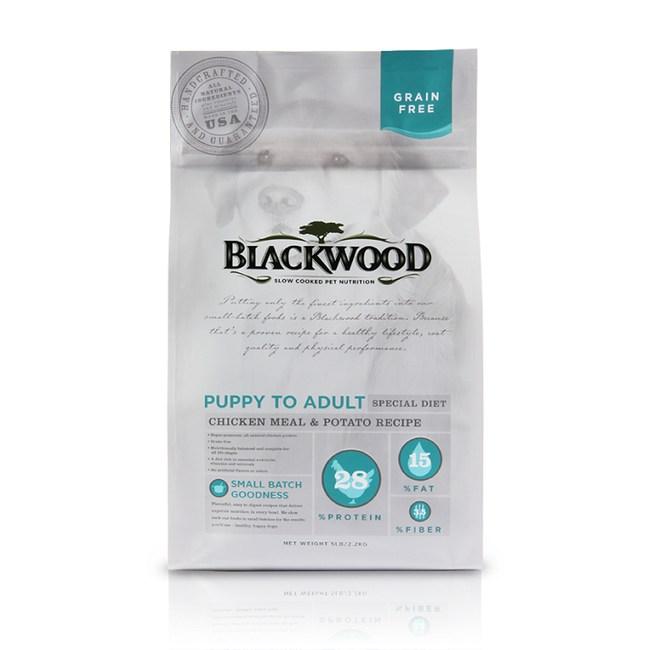 【BLACKWOOD】柏萊富無穀全齡低敏純淨配方雞肉+豌豆-5磅
