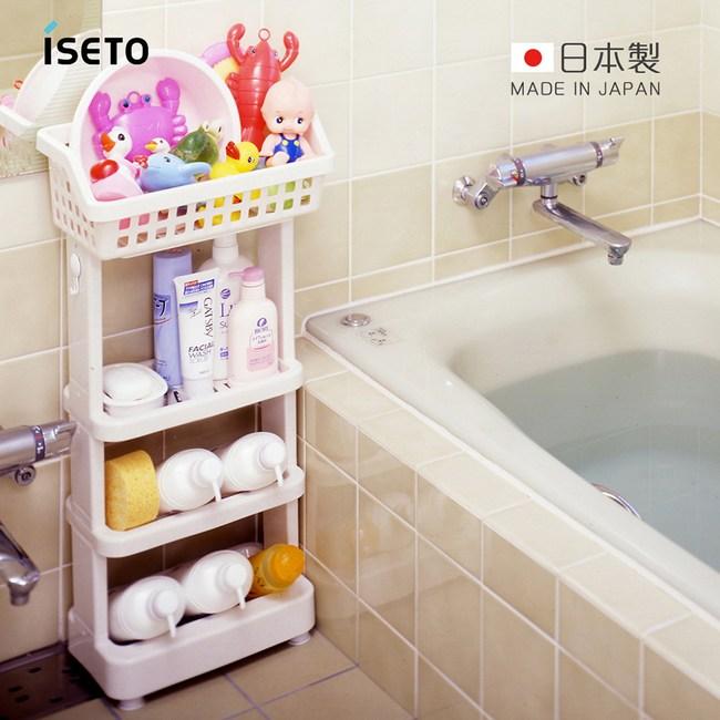【日本ISETO】日製浴室斜取置物架-4層4層