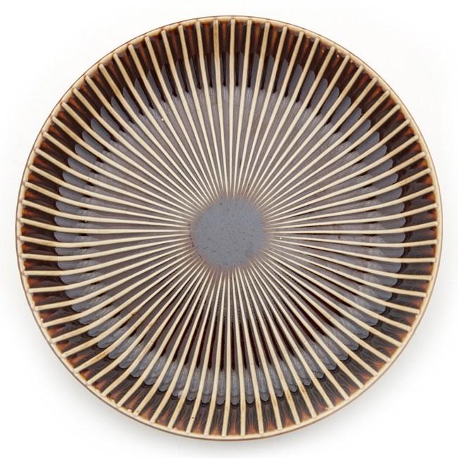 HOLA 日本洛紋飯盤 22cm 棕