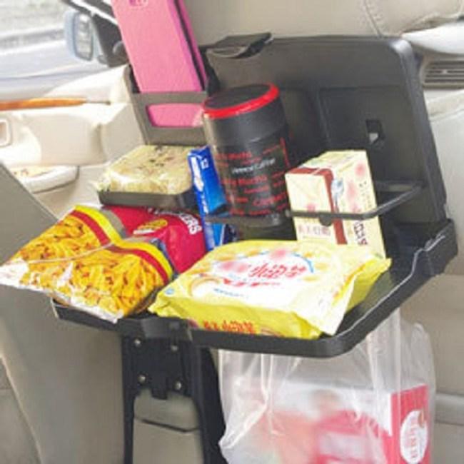 汽車後座摺疊置物桌置杯架