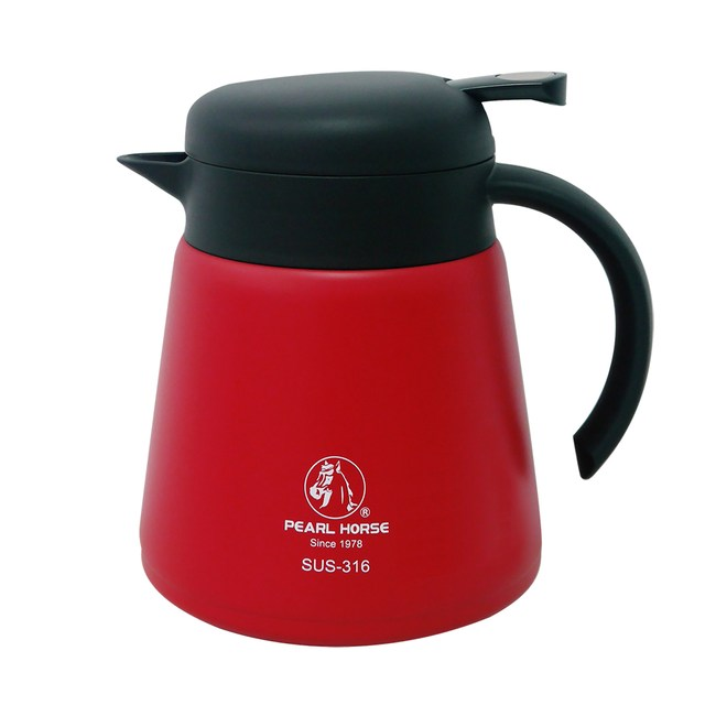 【寶馬牌】316不鏽鋼保溫咖啡壺 SHW-CF-800(R紅色)