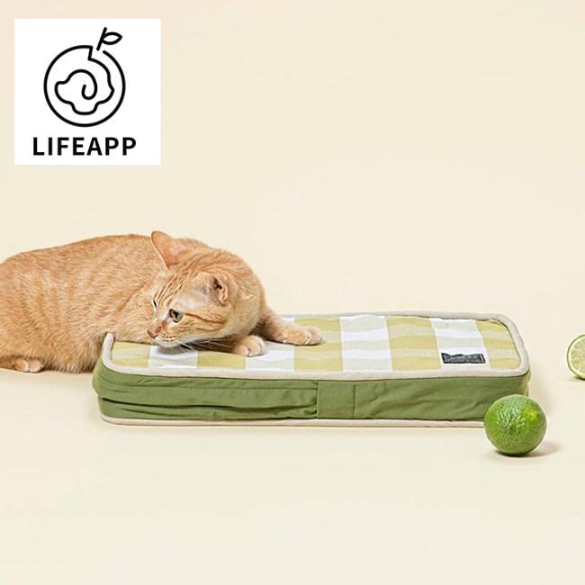 【Lifeapp】寵物緩壓睡墊大格紋款-XS(四種花色)綠白格款