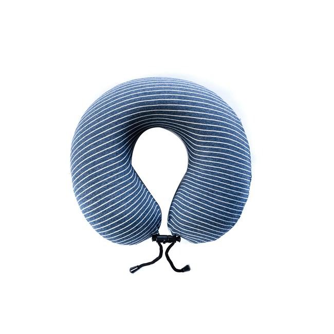 純棉舒壓可調式護頸枕-藍
