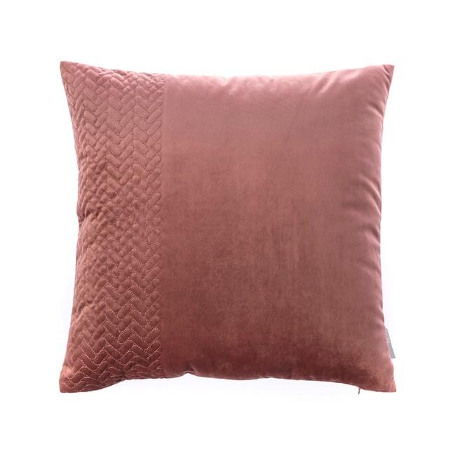 HOLA 凱莉繡花抱枕45x45cm深粉