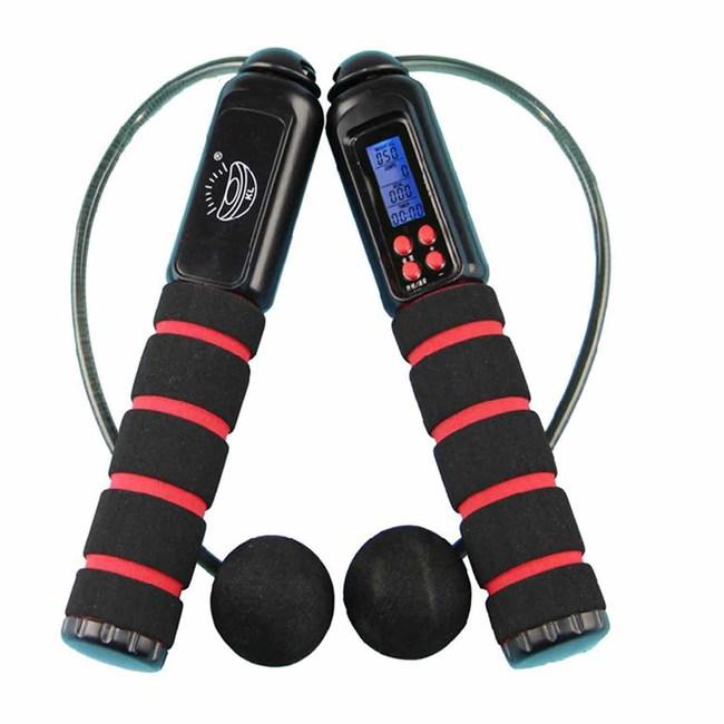 【PUSH!休閒運動用品】加重設計跳繩粉紅H04-1