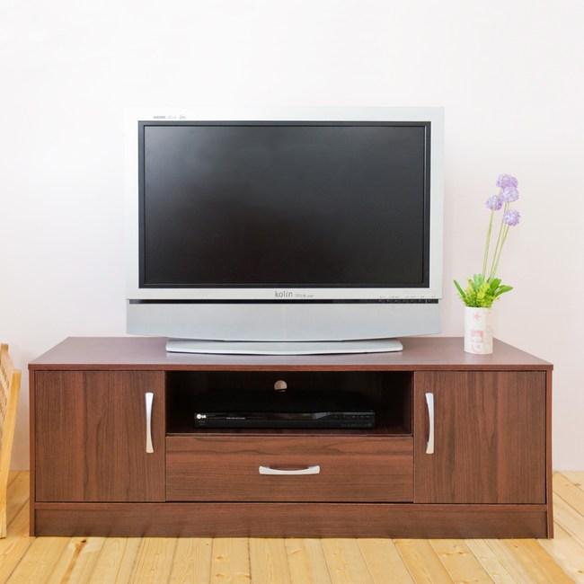 【Hopma】現代二抽電視櫃/收納櫃-胡桃木