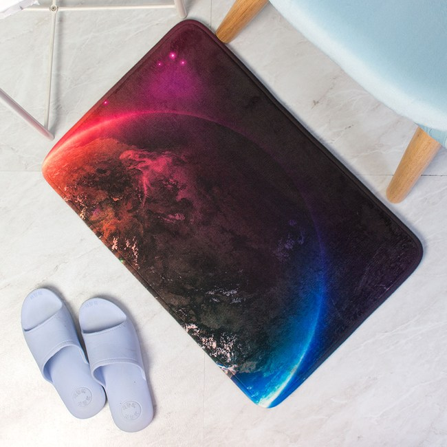 樂嫚妮 法蘭絨室內外防滑地墊-夢想星球