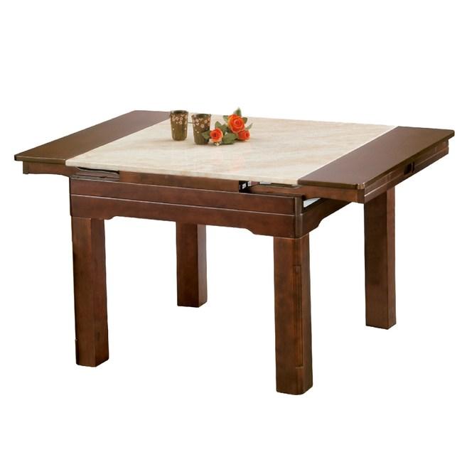 【YFS】席拉木紋石摺桌-136x90x75cm